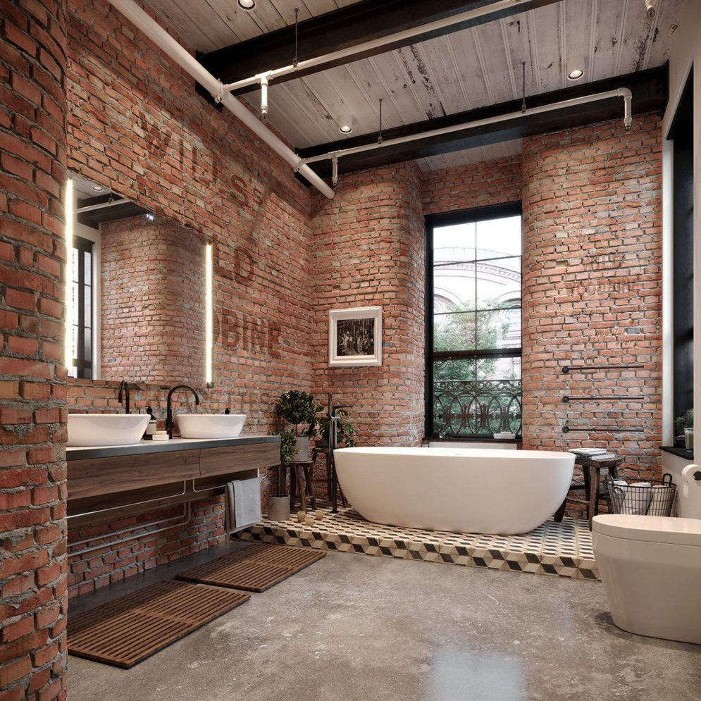 Exposed Brick Bathroom Ideas You Must See